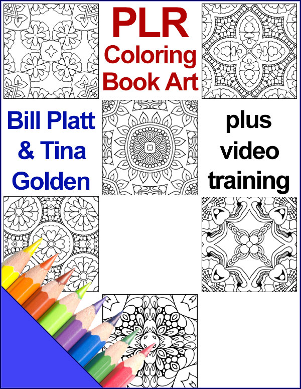 PLR Coloring Book Art